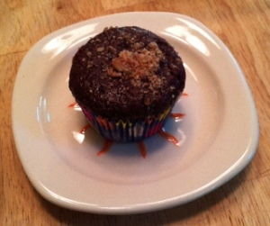 Double Chocolate Muffins--Topped with Walnuts